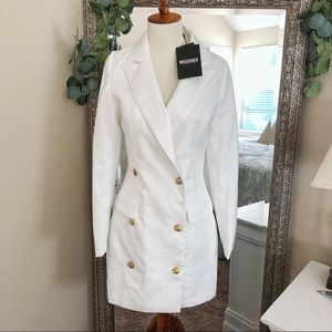 NWT Missguided White Trench Jacket